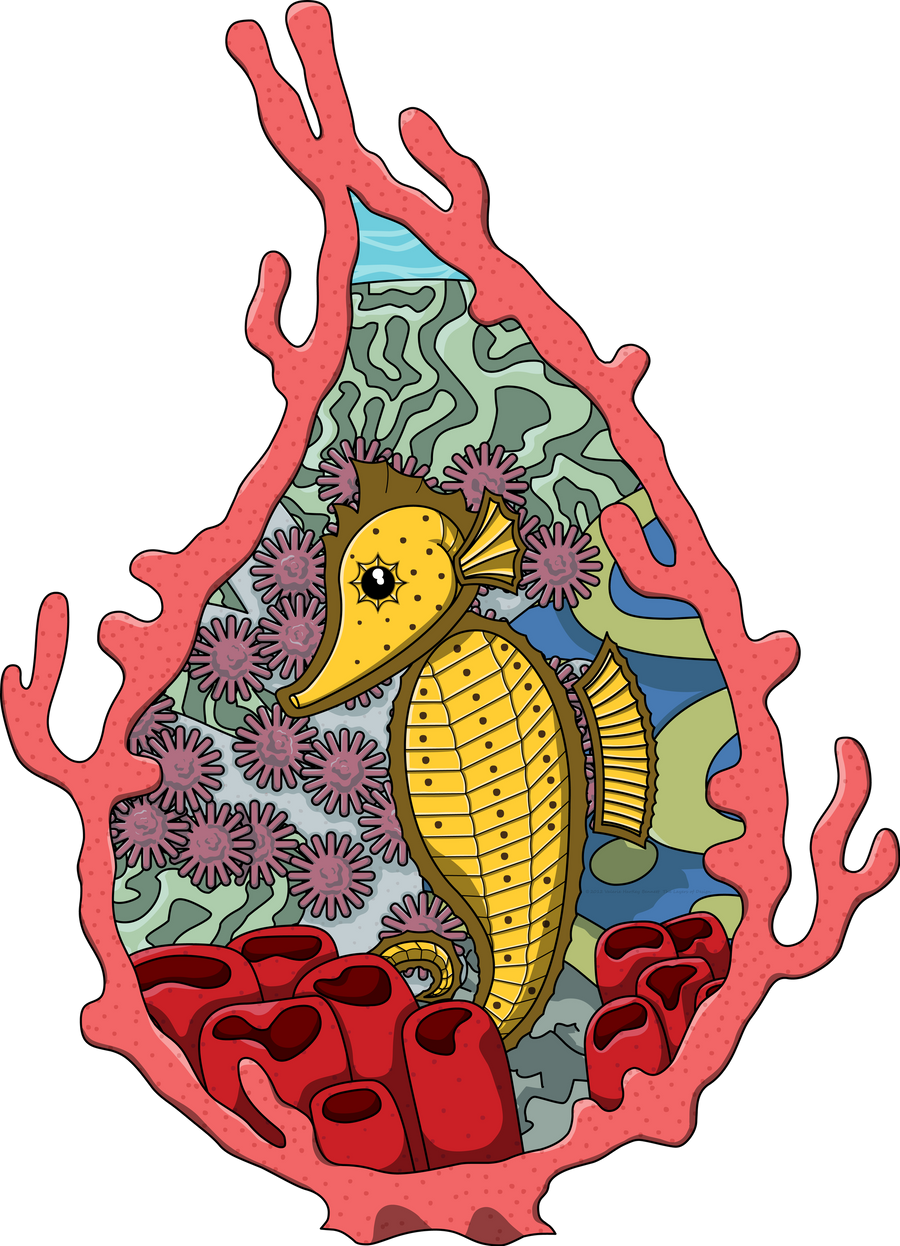 Tanga the Seahorse by vhartley