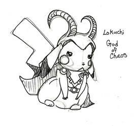 Lokichu: God of adorable chaos by Jakkithebunny