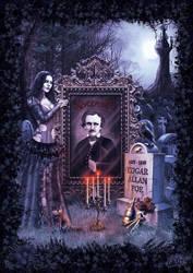 Edgar Allan Poe by DarkAkelarre