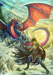 Kitiara and the Dragon Army by DarkAkelarre