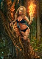 Dryad In Flames by DarkAkelarre