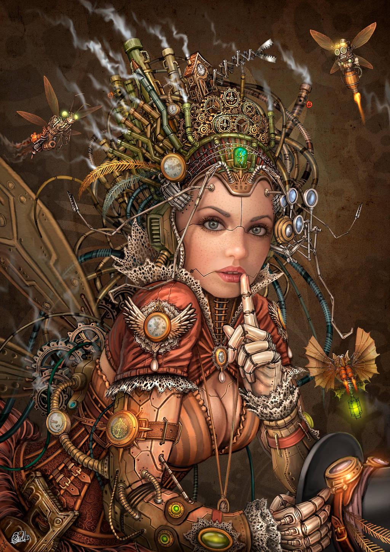 Silence Please - Steampunk Fairy by DarkAkelarre