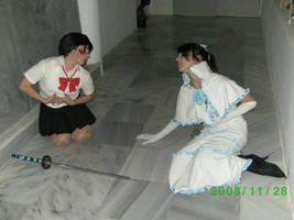 Saya and Diva by itsukih