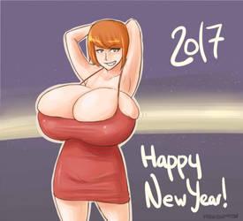 Happy new year 2017 by RasBurton
