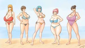 Beach girls by RasBurton
