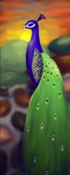 AT: peacock by La-Nee
