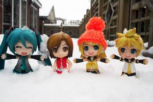 Nendos in Snow II by jen-den1