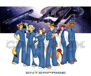 Commission - Enterprise Crew by bluefreak