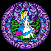 KH Stained Glass - Alice by BastRulez