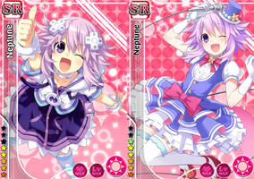Hyperdimension Neptunia - Love Live Cards (Idol) by HotaruKiryu