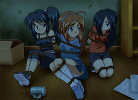 Commission: Three Girls by Daikinbakuju
