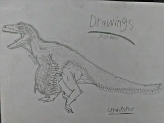 Utahraptor drawing by BazelEntertainment