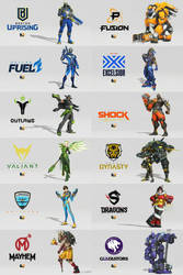The 12 Teams of the Overwatch League by RyanTing