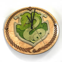 Harry Potter Pottermore Slytherin Crest as a clock by Athey