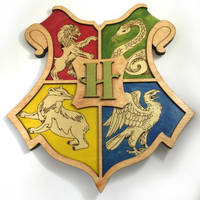 Harry Potter Hogwarts Crest laser cut wall art by Athey