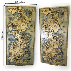 Game of Thrones Topographic Westeros Map by Athey