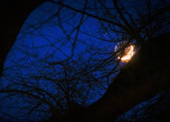 Burning Moon by 1darkstar1