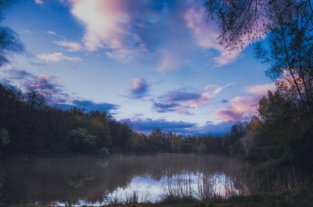 Peace at the Lake by 1darkstar1