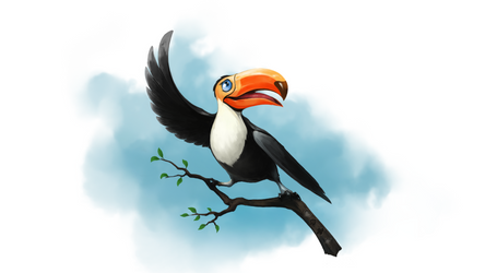 Party toucan by PaladinPainter