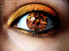 fire in her eyes by azure-towers