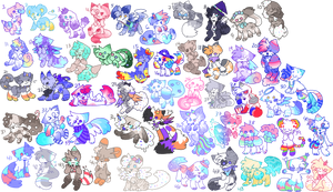 50 Adopts!!!!! [flatsale, closed] by LilliePuff