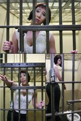 Actress Cryrstalann in a cell by henrytj