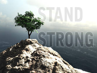 Tree (as Stand Strong) inspirational poster by henrytj