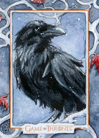 Game of Thrones - Tree Eyed Raven by WojikHell