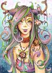 ACEO 129: Fairyland - Nymph by WojikHell