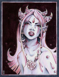 horned sea girl by WojikHell