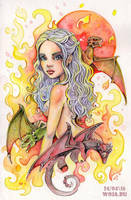 Game of Thrones: Daenerys Mother of Dragons by WojikHell
