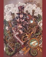 Steampunk girl by WojikHell