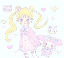 Sailor Moon and my melody by Cuchuflis