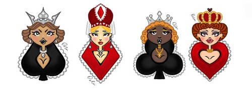 New design 4 card queens by D93-D