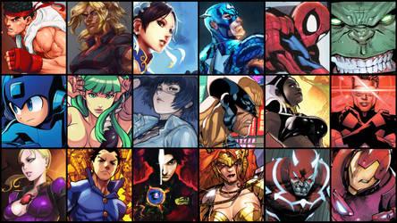 Marvel v Capcom Collage Game Wallpaper 01 by JMarvelhero