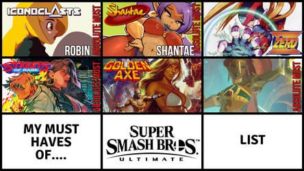 My List - Should be in Smash Ultimate by JMarvelhero
