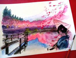 Japanese landscape by Musiriam