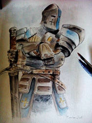 Warden  - Ink and watercolors by Musiriam