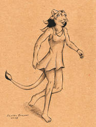 Sandra running by lionclaw1