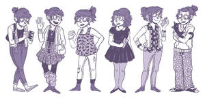 Outfit Diary Sketches by kaykedrawsthings
