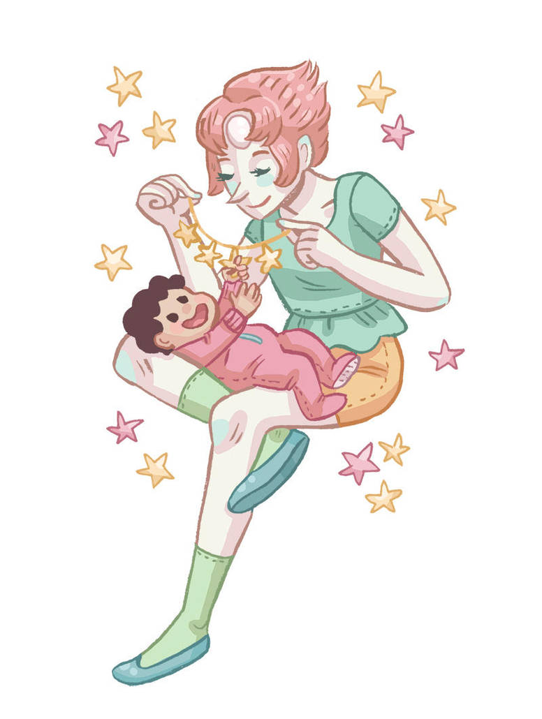 After watching Space Race I had some more Pearl-Mom emotions. It was interesting to see a different side of her character. Usually she's so overprotective and doesn't like Steven going on adventure...