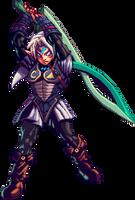 Oni Link - Pixel Art by RamzaNeko
