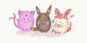 Eevee Evolution No2 by ricecuni