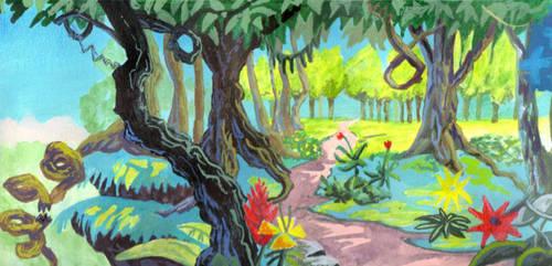 Sonic the hedgehog Satam Forest knothole pathway by KEVIN-K-DEVIANTART