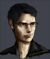 some dude with glasses by cmaemon