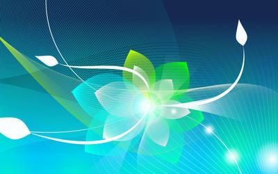 Wireframe flower by leoatelier