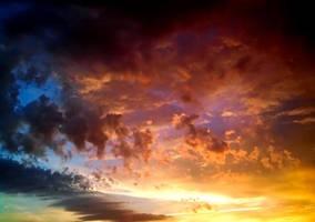 Fire sky by leoatelier