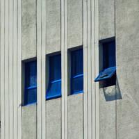 Little blue window by leoatelier