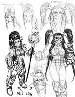 Female Orc Warrior - WoW by LazarusReturns