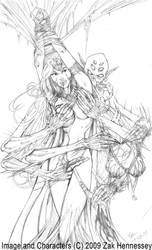 Drow in Distress - Pencils by LazarusReturns